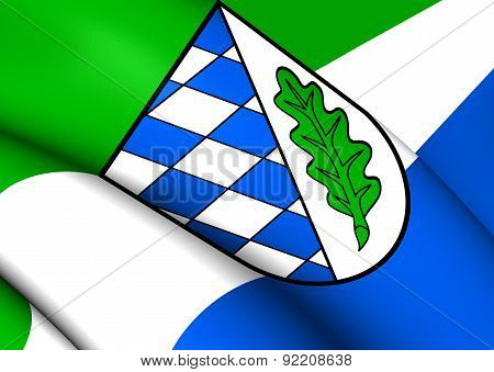 Flag Of Landkreis Aichach, Germany.
