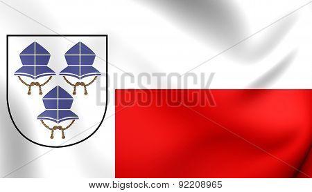Flag Of Landshut, Germany.