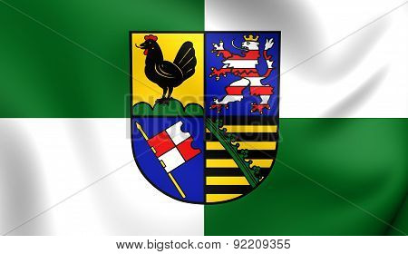 Flag Of Schmalkalden-meiningen, Germany.