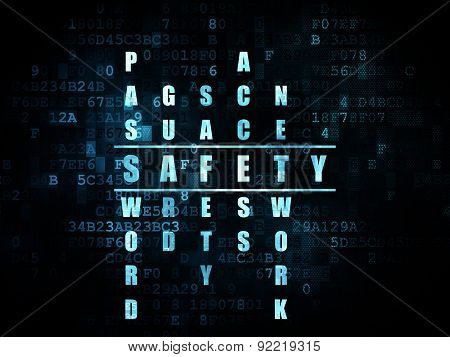 Security concept: word Safety in solving Crossword Puzzle