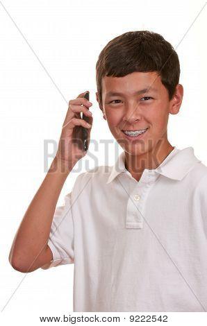 Teen On Cellular Telephone (cellphone)