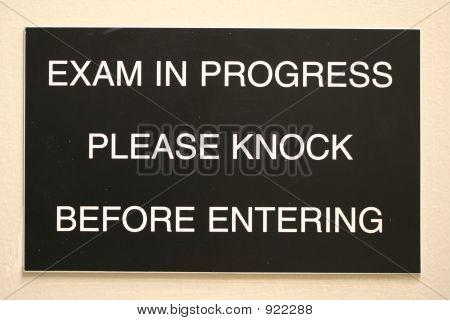 Exam In Progress
