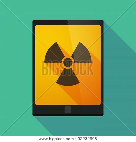 Tablet Pc Icon With A Radio Activity Sign