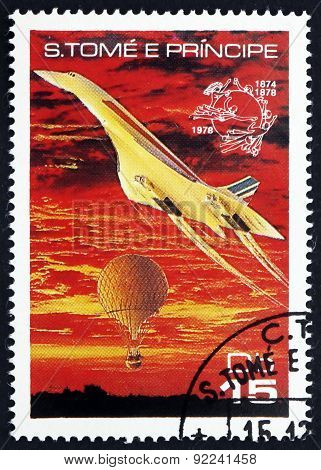 Postage Stamp Sao Tome And Principe 1978 Concorde And Balloon
