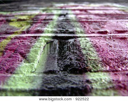 Graffiti Detail Pink Black