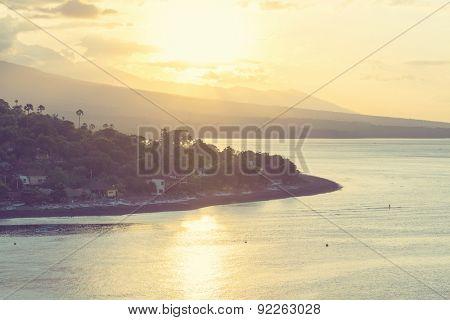 Volcano Agung and Amed beach, Bali, Indonesia