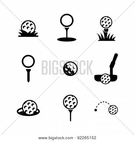 Vector Illustration With  Black Pictograph.