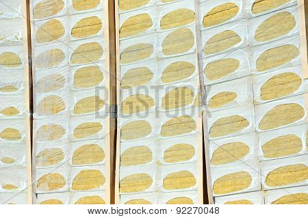 Thermal insulation mineral rock wool