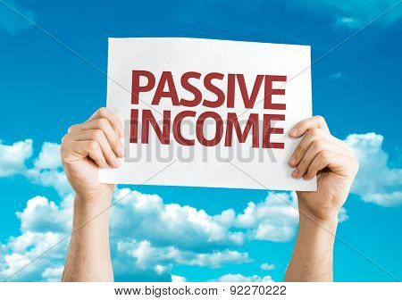 Passive Income card with sky background