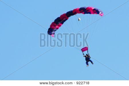 Purple Parachute Tandem Jump