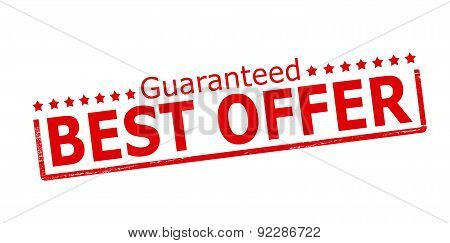 Rubber stamp with text guaranteed best offer inside vector illustration poster