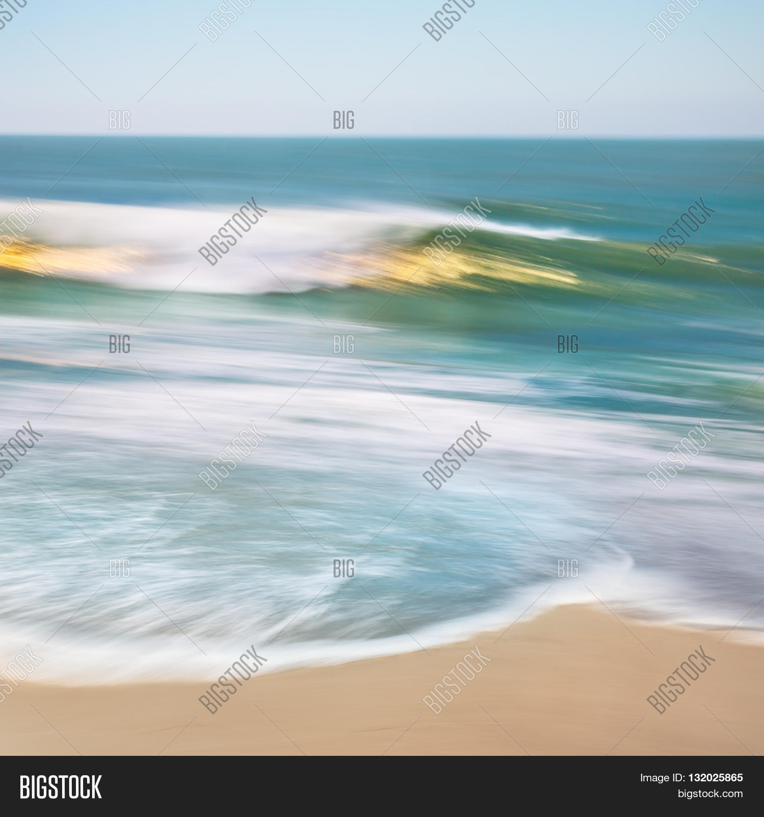 Ocean Wave Blurred Image Photo Free Trial Bigstock