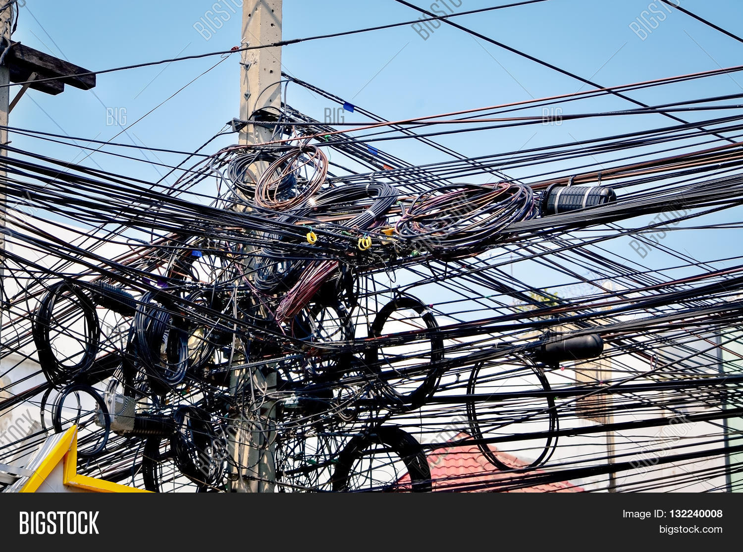 Chaos Cables Wires On Image & Photo (Free Trial) | Bigstock