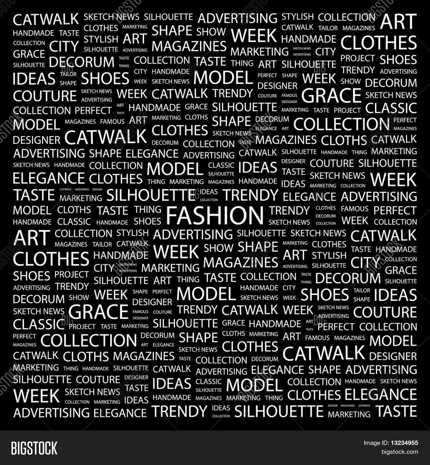 Collage fashion backgrounds black and white fotos