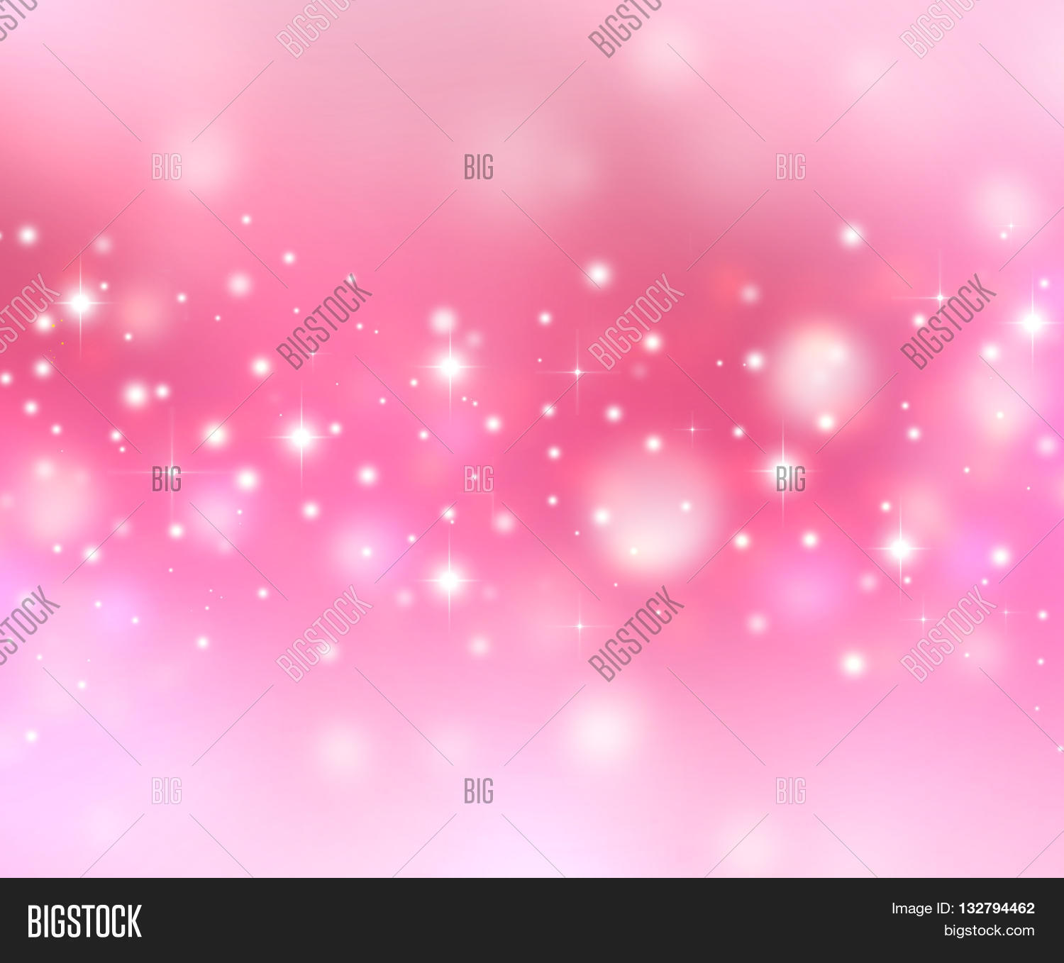 Magic Christmas Lights Sparkling Snow Background With Stardust And Shining Stars Pink White Love Holiday