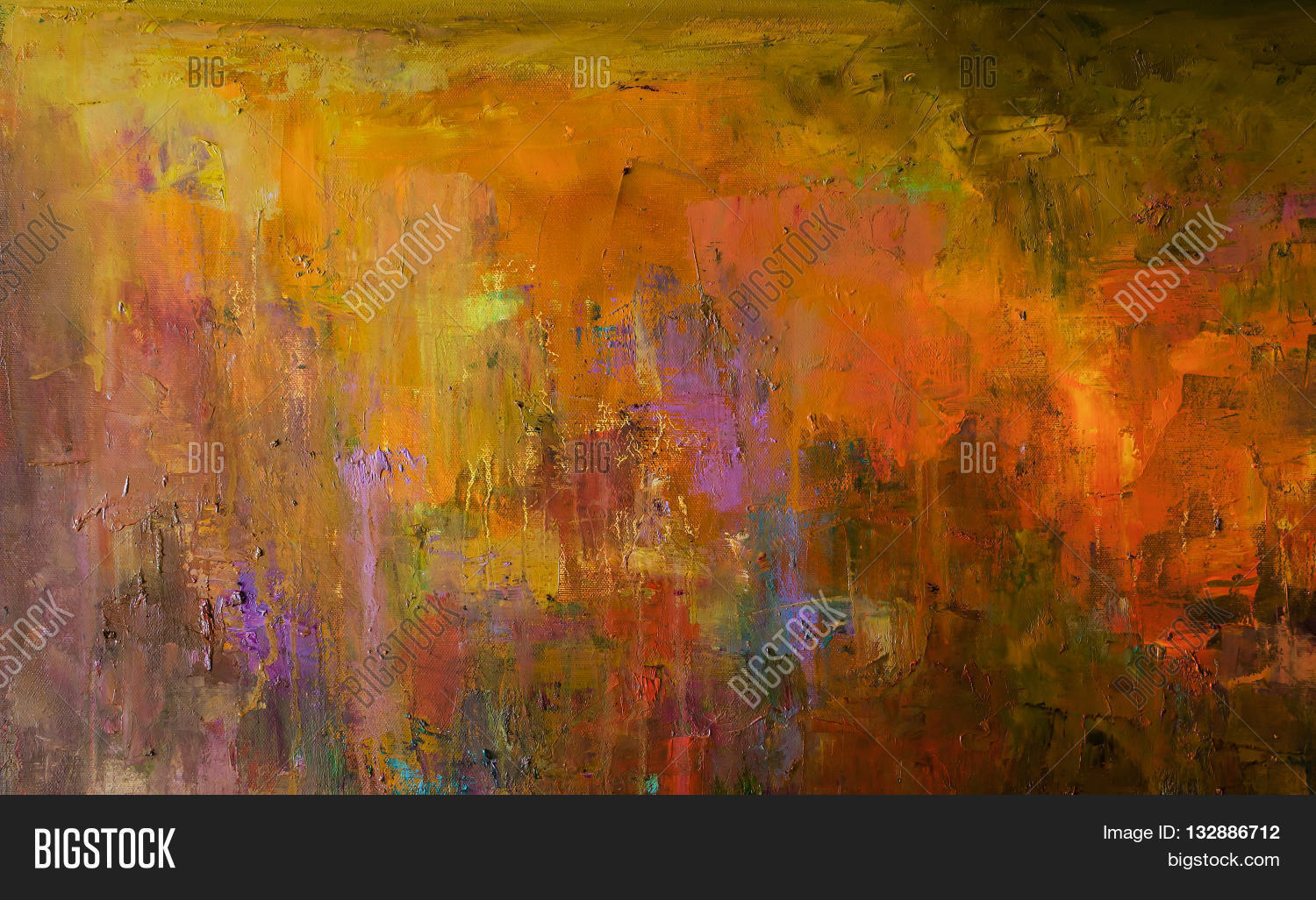 Abstract Oil Painting Image Photo Free Trial Bigstock