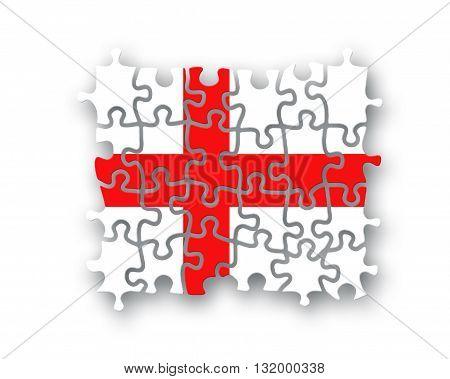England Flag Jigsaw