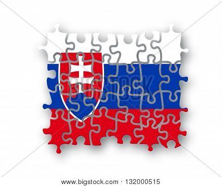 Slovakia Flag Jigsaw