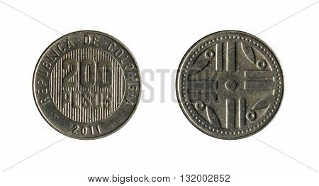 Two Hundred Colombian Currency