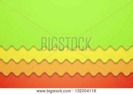 Colorful Wave Background. Unusual modern style and material design. Abstract Vector Illustration.