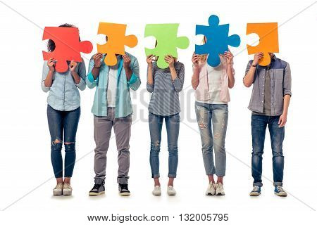 Young People With Puzzles