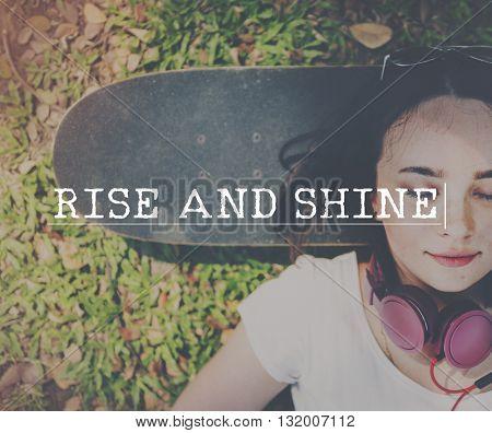 Rise Shine Growth Improvement Increase Progress Concept