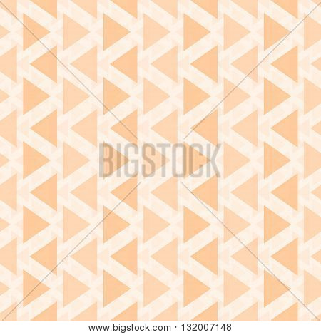 Abstract seamless geometric pattern of different sized translucent triangles. Endless graphic print orange color. Vector illustration for fabric, paper and other