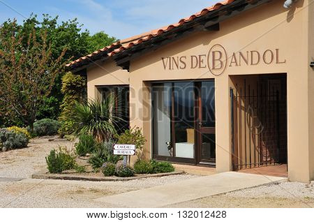 Le Castellet France - april 20 2016 : a Bandol wine shop