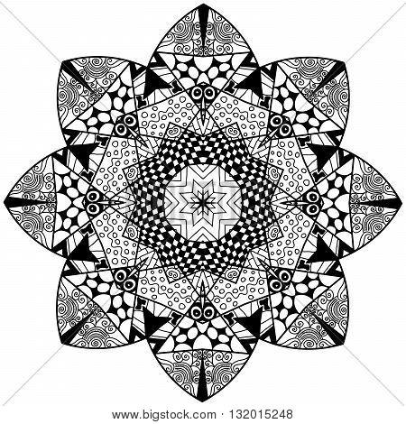 Mandala Flourish Element
