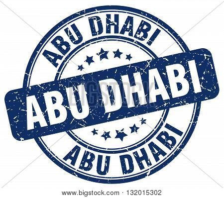 Abu Dhabi blue grunge round vintage rubber stamp.Abu Dhabi stamp.Abu Dhabi round stamp.Abu Dhabi grunge stamp.Abu Dhabi.Abu Dhabi vintage stamp.