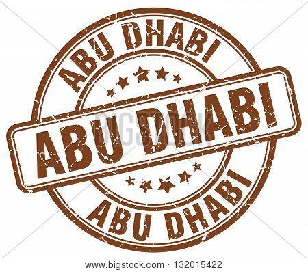 Abu Dhabi brown grunge round vintage rubber stamp.Abu Dhabi stamp.Abu Dhabi round stamp.Abu Dhabi grunge stamp.Abu Dhabi.Abu Dhabi vintage stamp.