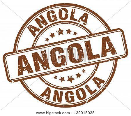 Angola brown grunge round vintage rubber stamp.Angola stamp.Angola round stamp.Angola grunge stamp.Angola.Angola vintage stamp.