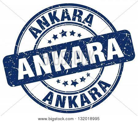 Ankara blue grunge round vintage rubber stamp.Ankara stamp.Ankara round stamp.Ankara grunge stamp.Ankara.Ankara vintage stamp.