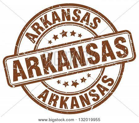 Arkansas brown grunge round vintage rubber stamp.Arkansas stamp.Arkansas round stamp.Arkansas grunge stamp.Arkansas.Arkansas vintage stamp.