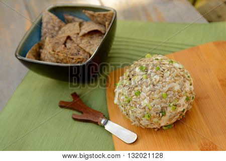 Gourmet Vegan Cheese Ball with a Cheese Spreader