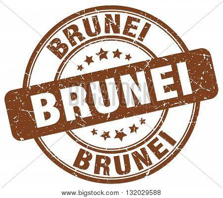 Brunei brown grunge round vintage rubber stamp.Brunei stamp.Brunei round stamp.Brunei grunge stamp.Brunei.Brunei vintage stamp.
