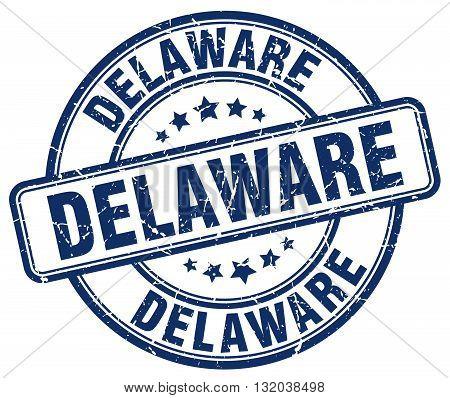 Delaware blue grunge round vintage rubber stamp.Delaware stamp.Delaware round stamp.Delaware grunge stamp.Delaware.Delaware vintage stamp.