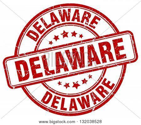 Delaware red grunge round vintage rubber stamp.Delaware stamp.Delaware round stamp.Delaware grunge stamp.Delaware.Delaware vintage stamp.