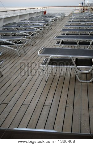 A pool deck on Costa Magica cruise ship. poster