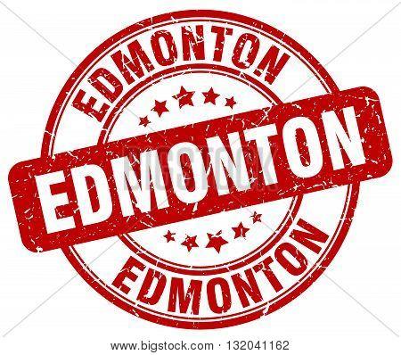 Edmonton red grunge round vintage rubber stamp.Edmonton stamp.Edmonton round stamp.Edmonton grunge stamp.Edmonton.Edmonton vintage stamp.