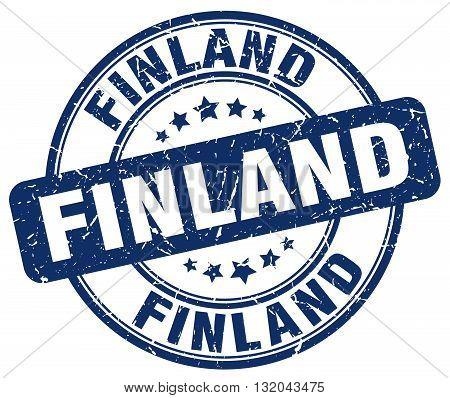 Finland blue grunge round vintage rubber stamp.Finland stamp.Finland round stamp.Finland grunge stamp.Finland.Finland vintage stamp.
