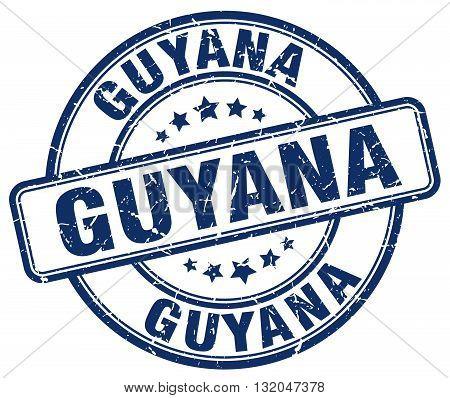Guyana blue grunge round vintage rubber stamp.Guyana stamp.Guyana round stamp.Guyana grunge stamp.Guyana.Guyana vintage stamp.