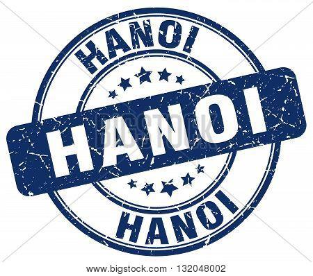 Hanoi blue grunge round vintage rubber stamp.Hanoi stamp.Hanoi round stamp.Hanoi grunge stamp.Hanoi.Hanoi vintage stamp.