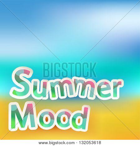 illustration of summer bright square blurred background