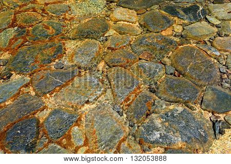 wet stones in water - abstract background