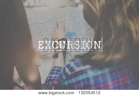 Travel Destination Excursion Itinerary Concept