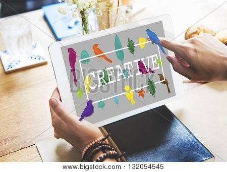 Create Creative Creativity Ideas Design Concept