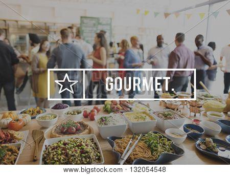 Gourmet Diner Food Eating Party Celebration Concept