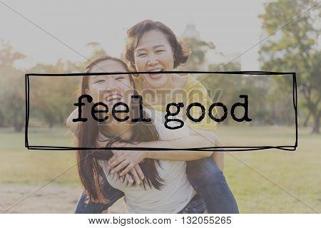 Feel Good Happiness Cheerful Joyful Optimistic Carefree Concept