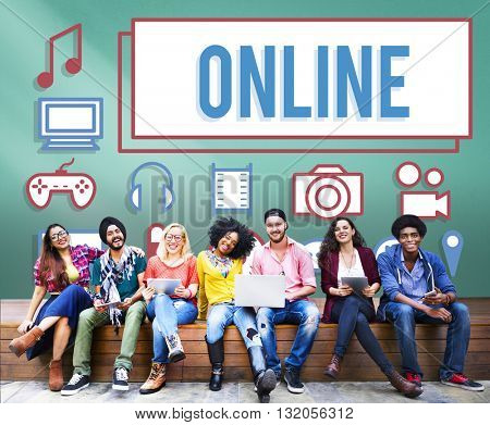 Online Connection Social Networking Internet Technology Concept